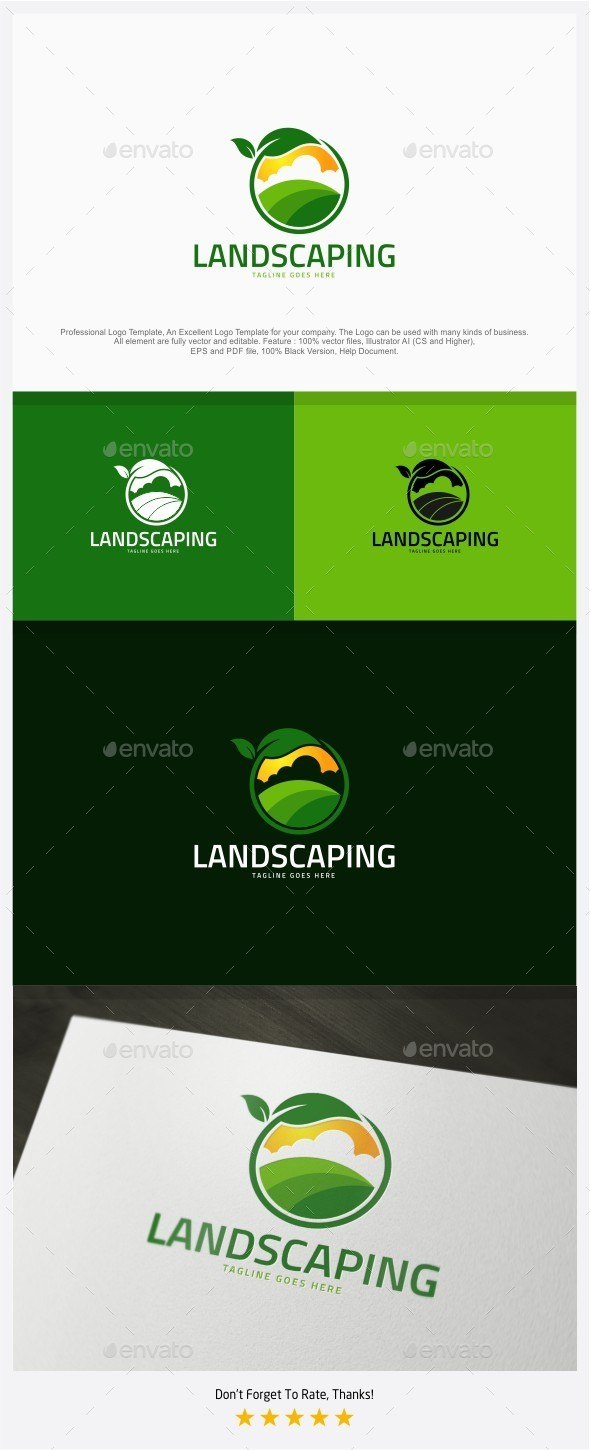 Landscaping / Farm Logo - Nature Logo Templates