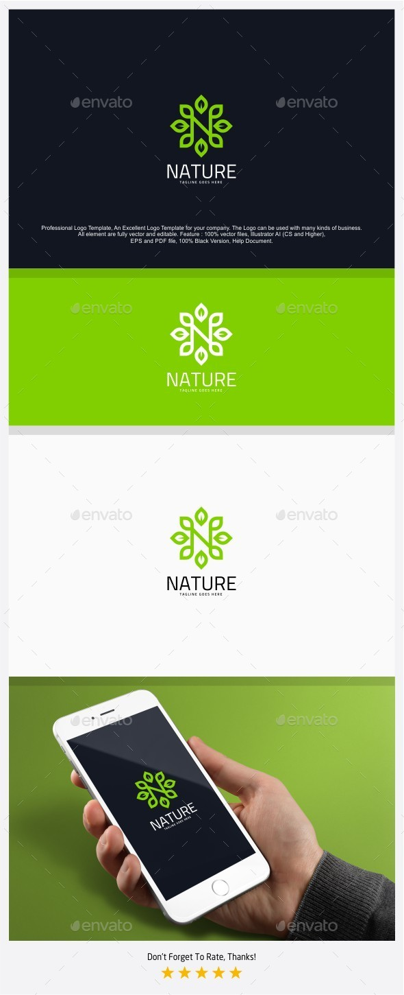 Letter N / Nature Logo - Letters Logo Templates
