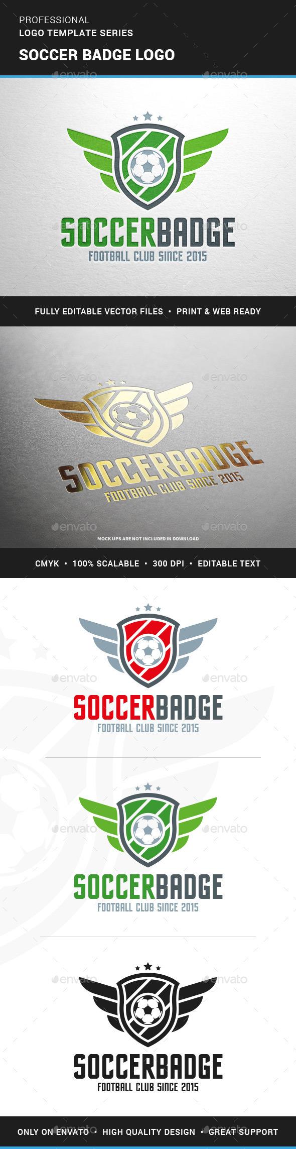 Soccer Badge Logo Template - Crests Logo Templates