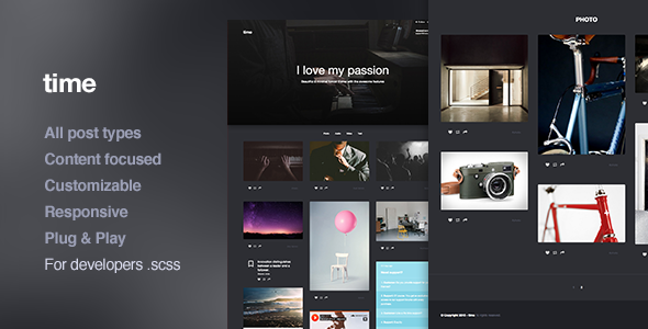 Time, Responsive Portfolio Tumblr Theme
