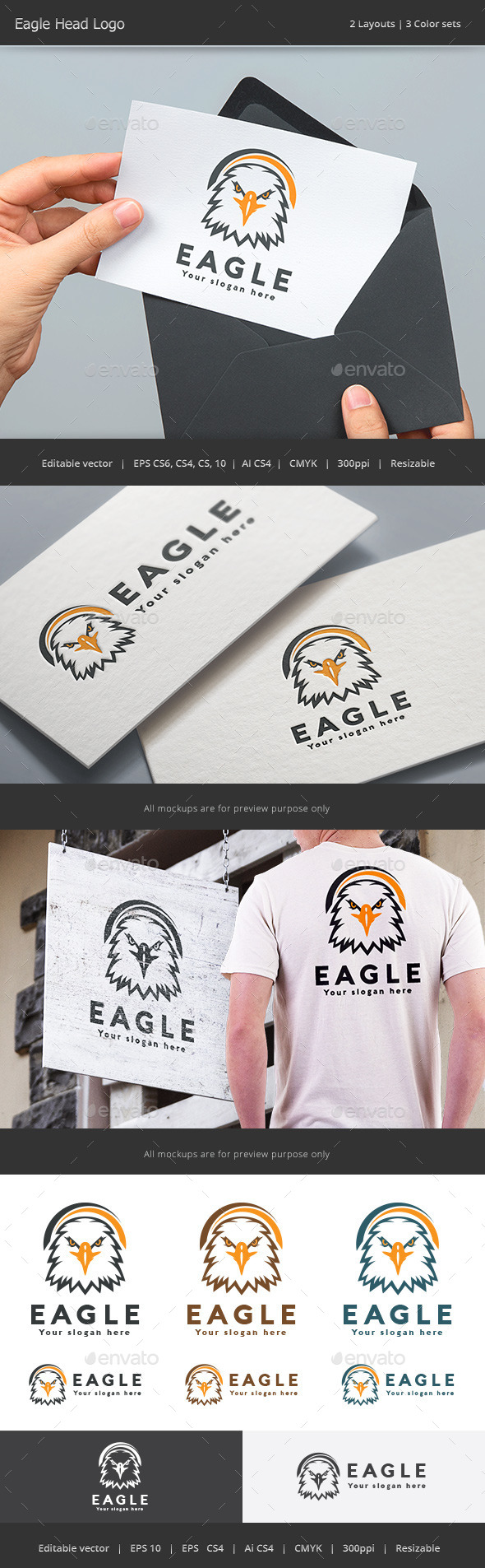 Eagle Head Logo - Animals Logo Templates