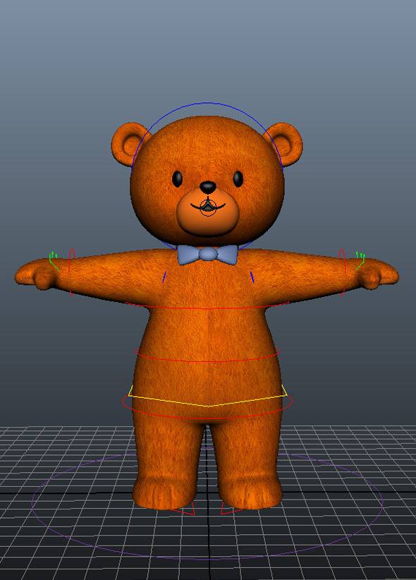 Bear Character Rig and Model - 3DOcean Item for Sale