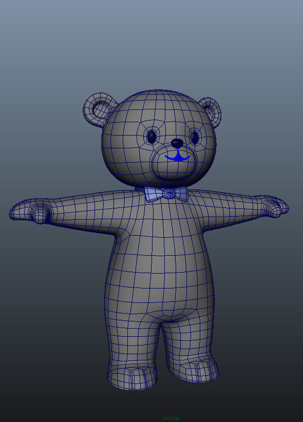 Bear Character Rig and Model