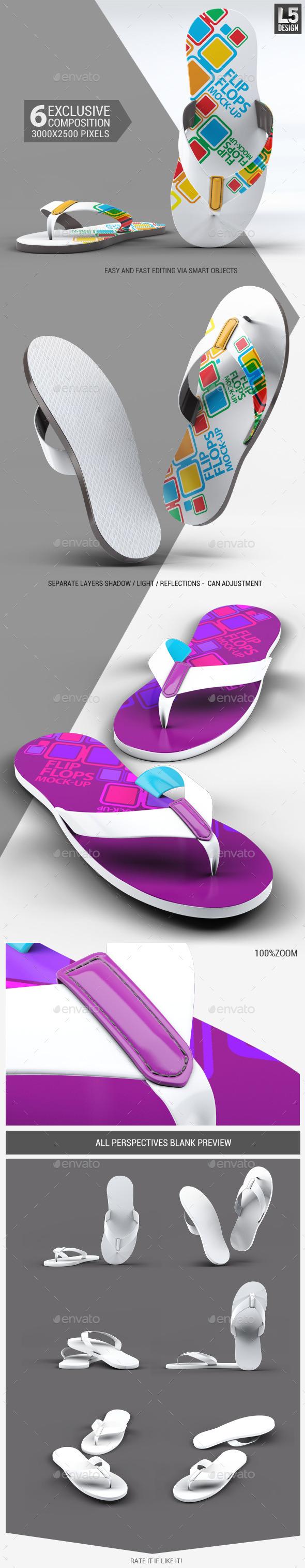 Flip Flops Mock-Up - Miscellaneous Apparel