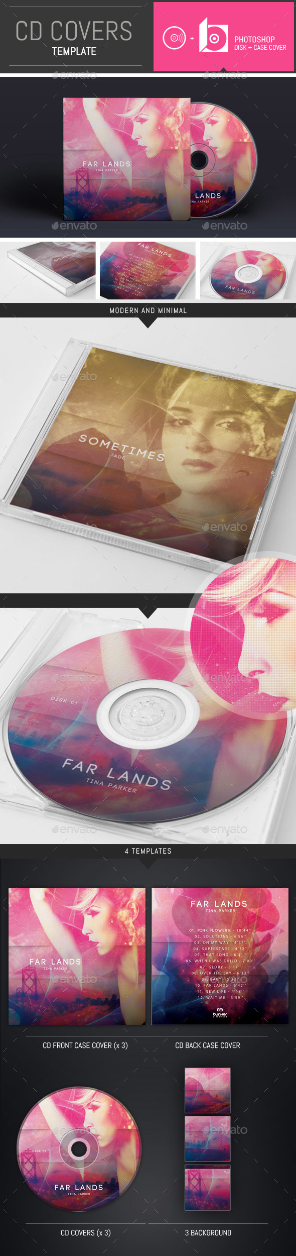 Emotional DJ / Musician CD Cover Template - CD & DVD Artwork Print Templates