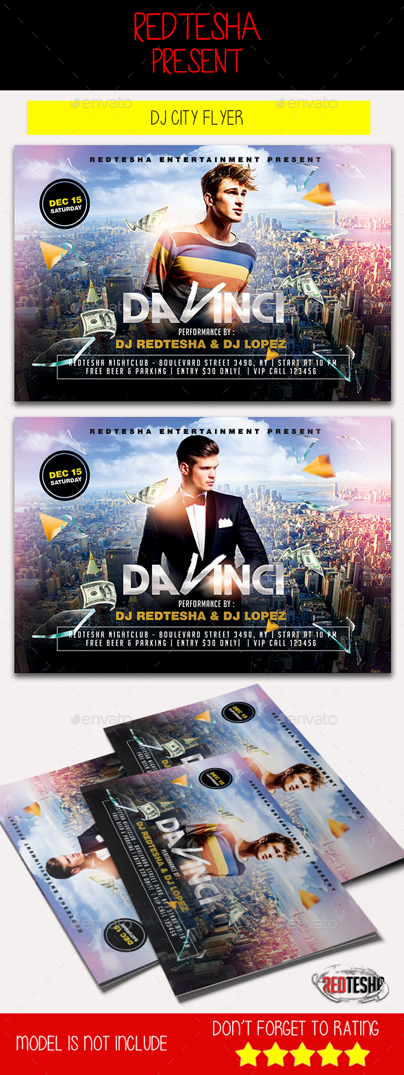 DJ City Flyer - Clubs & Parties Events