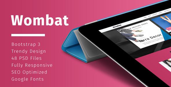 Wombat – Fashion eCommerce HTML Template