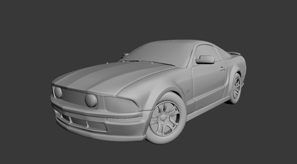 High poly sports car - 3DOcean Item for Sale