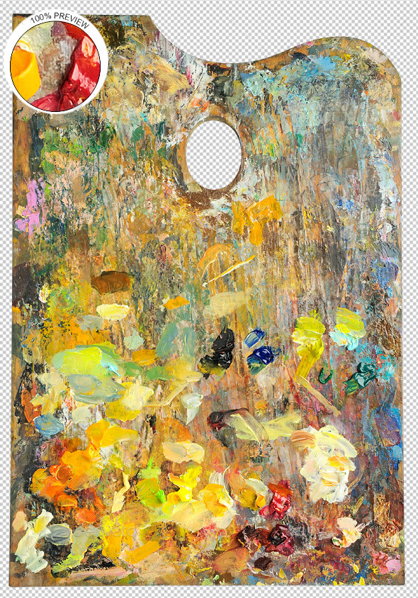Artist's Palette - Activities & Leisure Isolated Objects