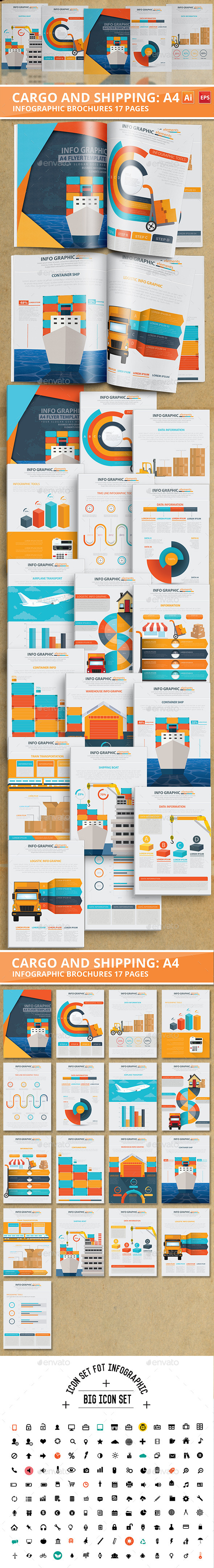 Cargo And Shipping Info graphic 17 Pages Design - Infographics
