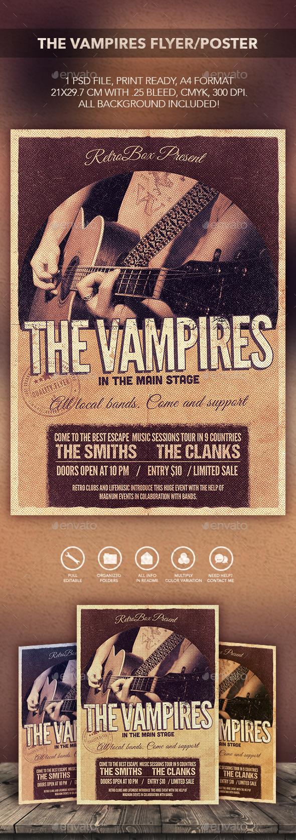 Vampires Flyer Poster - Flyers Print Templates