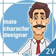 Male Character Designer / Hand Drawn Simulation - VideoHive Item for Sale