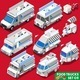 Food Truck Set Vehicle Isometric - GraphicRiver Item for Sale