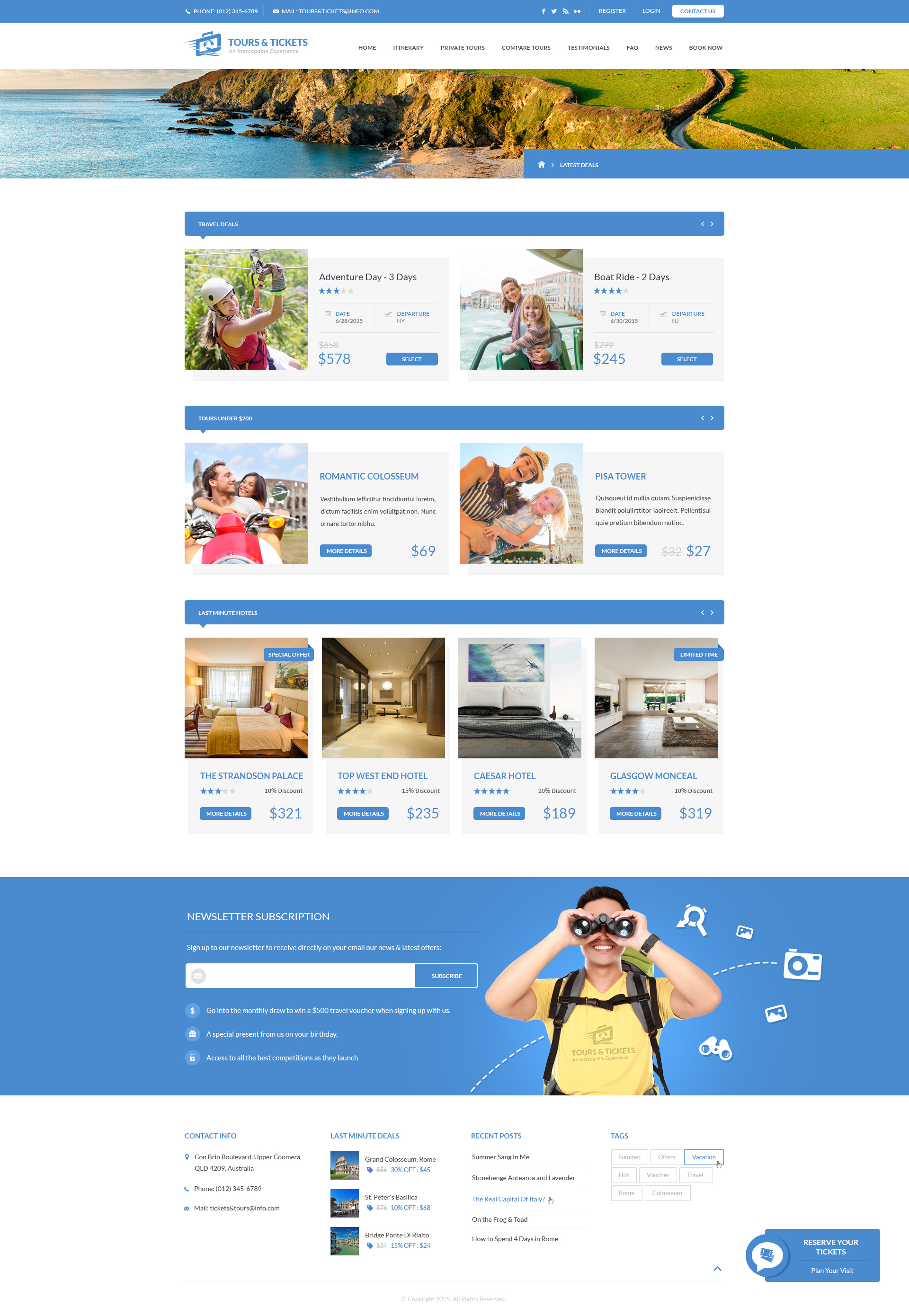 Tours & Tickets - HTML Template by ThemePlayers | ThemeForest