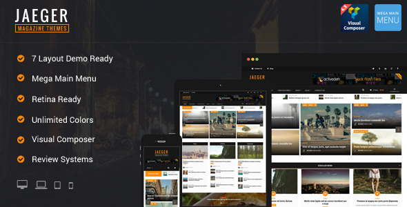 Jaeger - Flexible Layout News & Magazine WP Theme - News / Editorial Blog / Magazine