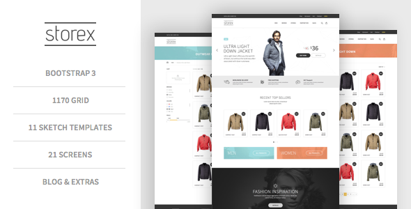 Storex Shopping Site & Blog Sketch Theme