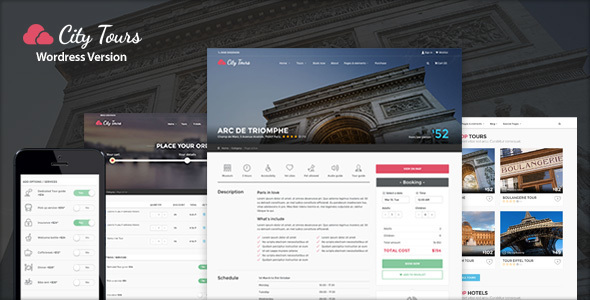 CityTours – Hotel & Tour Booking WordPress Theme