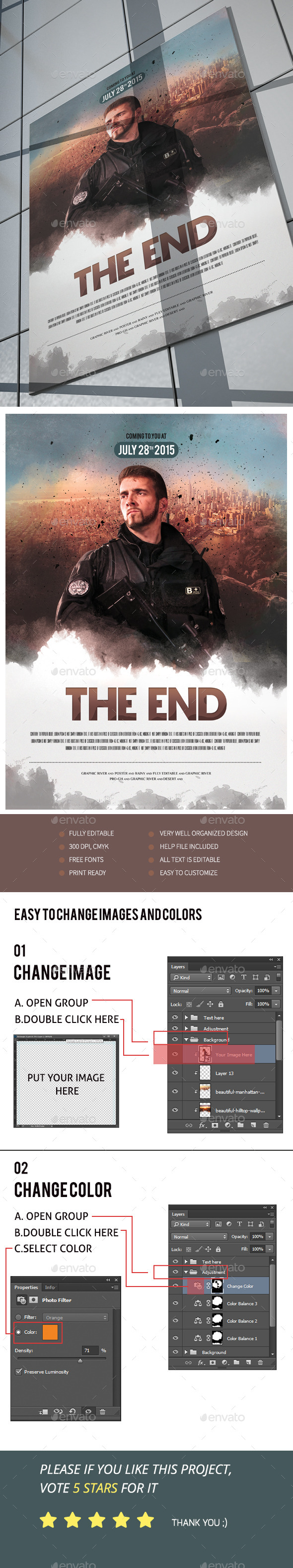 The End Movie Poster/Flyer IV - Events Flyers