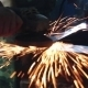 Processing Of Metal Grinder With Sparks - VideoHive Item for Sale