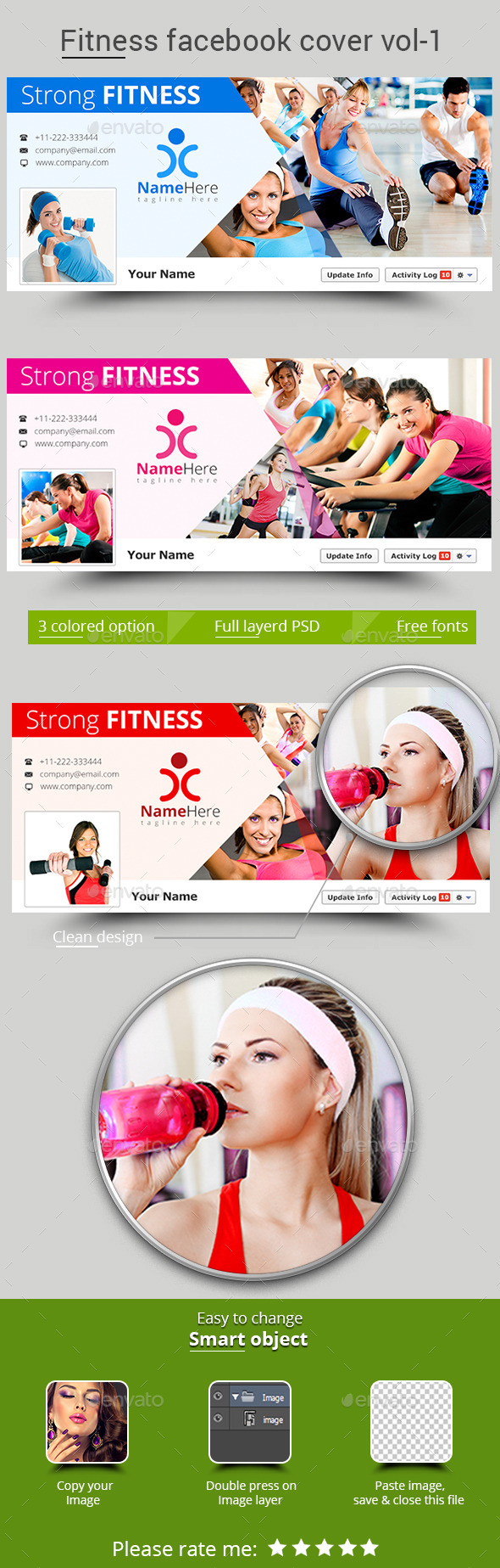 Fitness Facebook Cover Vol- 1 - Facebook Timeline Covers Social Media