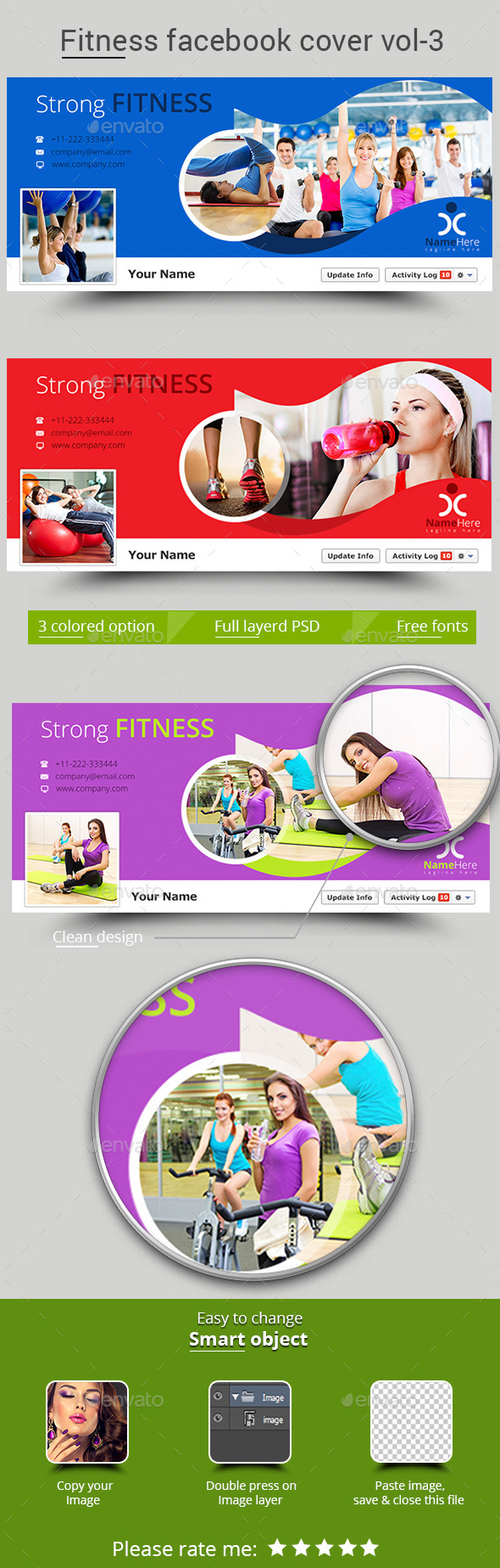 Fitness Facebook Cover Vol-3 - Facebook Timeline Covers Social Media