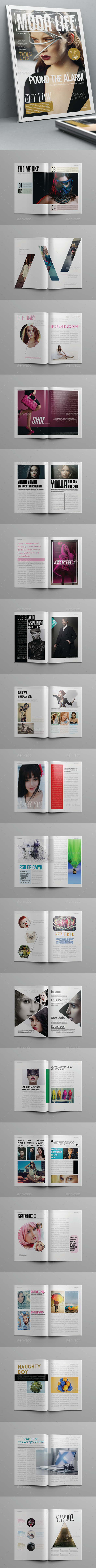 Moda Life Magazine Template 40 Pages - Magazines Print Templates