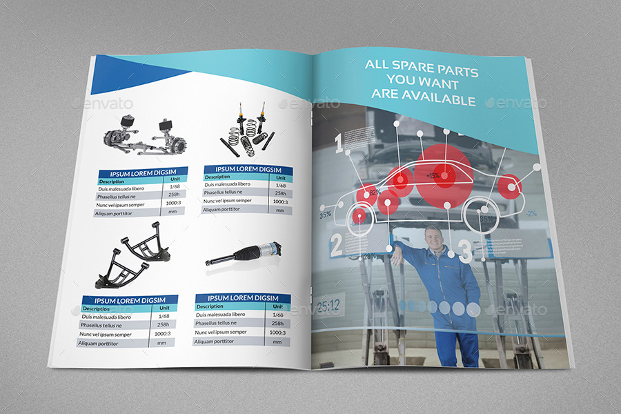 Auto Parts Catalog Brochure Template 20 Pages By Owpictures