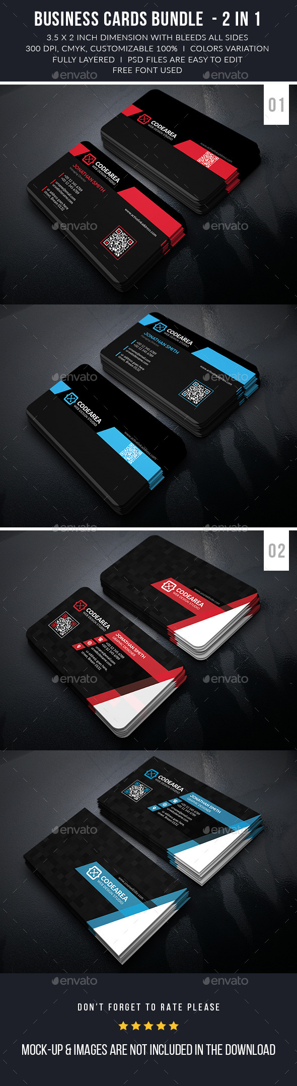 Modern Business Cards Bundle - Business Cards Print Templates