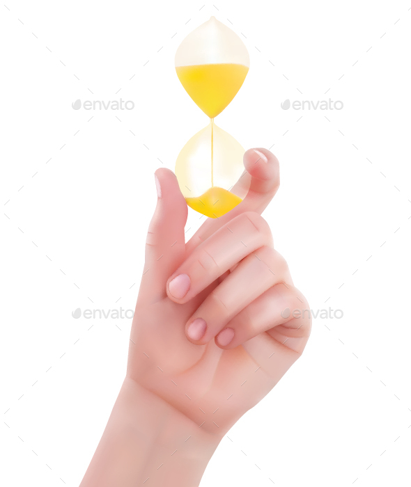 Hands Holding Hourglass - Miscellaneous Vectors