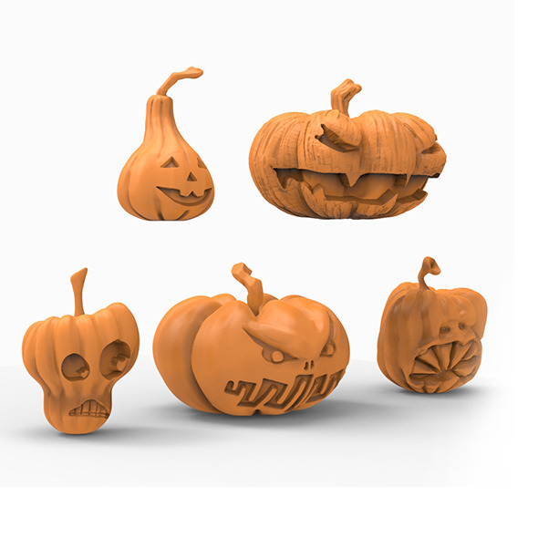 Pumpkin 3D print  - 3DOcean Item for Sale