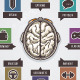 Brain activity infographics illustration - GraphicRiver Item for Sale