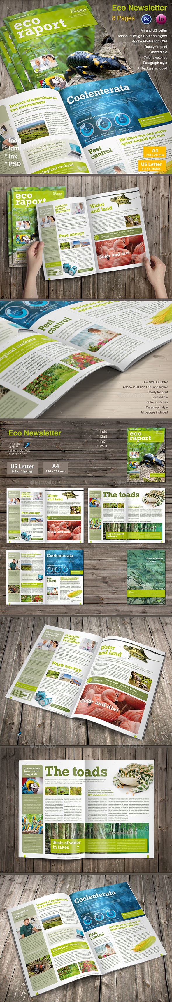 Eco Newsletter - Newsletters Print Templates