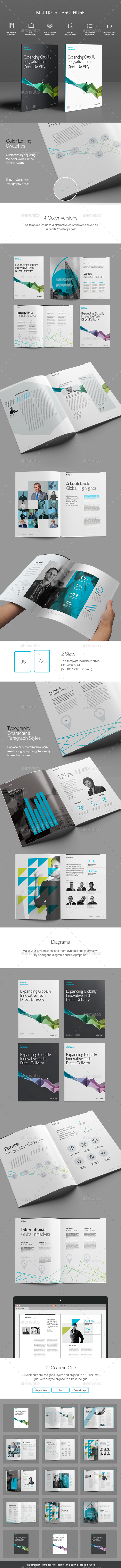 Multicorp Brochure Template - Corporate Brochures