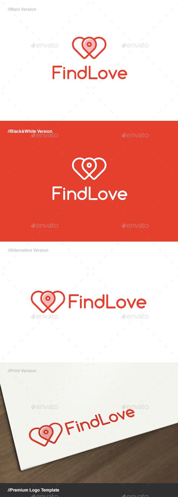 Find Love Logo - Symbols Logo Templates