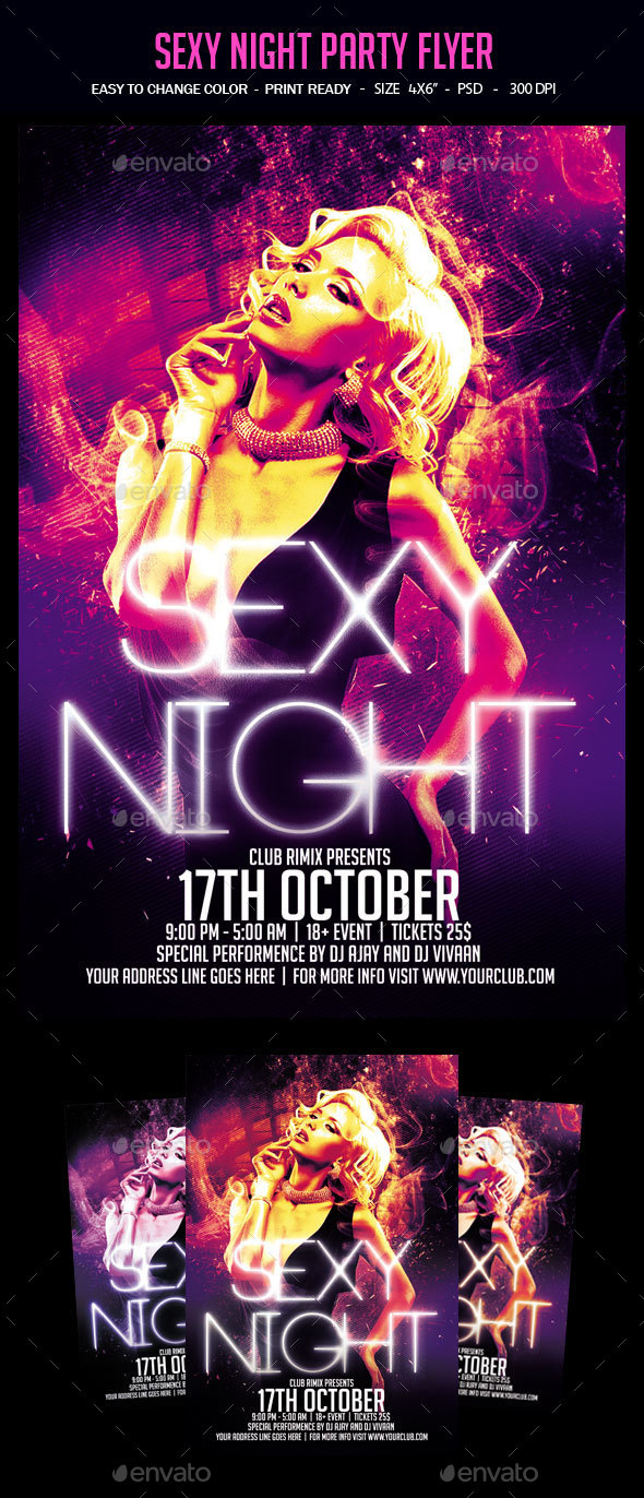 Sexy Night Party Flyer - Clubs & Parties Events