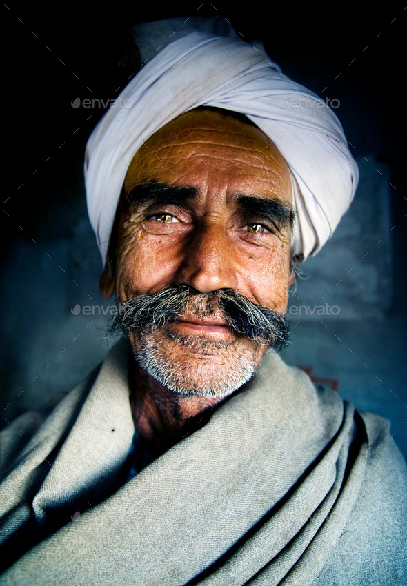 Indigenous Senior Indian Man Looking at the Camera Concept - Stock Photo - Images