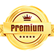 Golden And Silver Premium Quality Badges - GraphicRiver Item for Sale