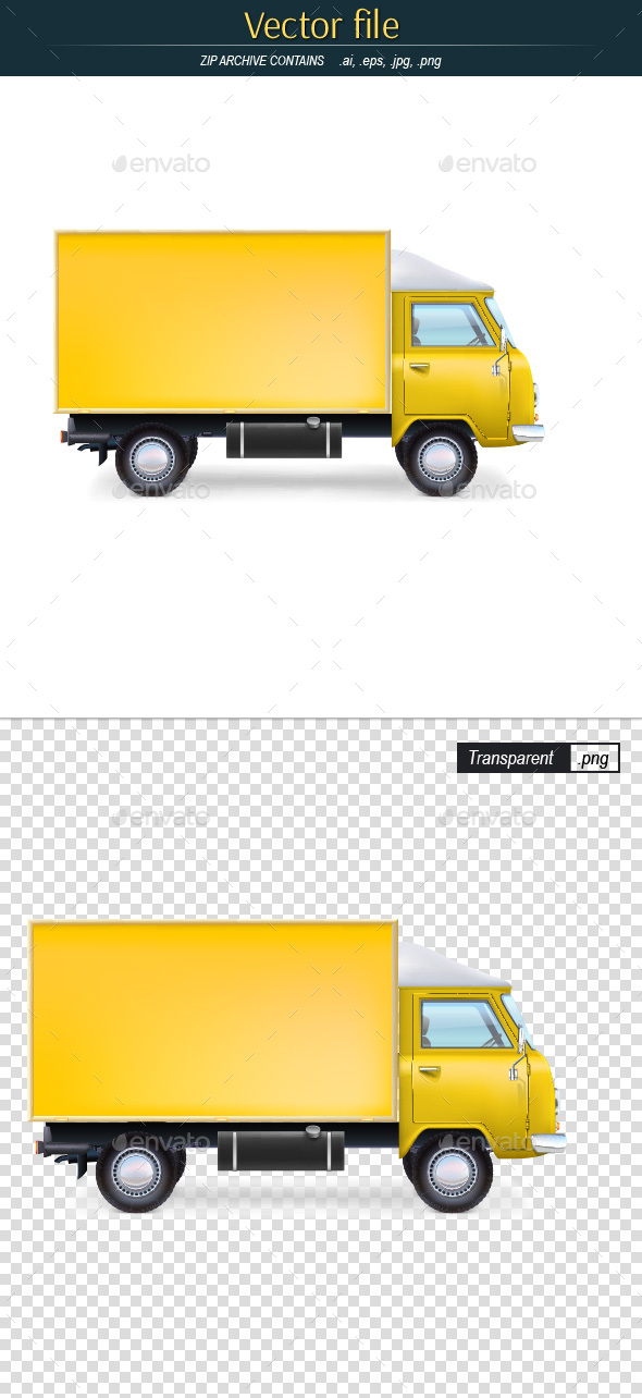 Yellow Commercial Vehicle - Man-made Objects Objects