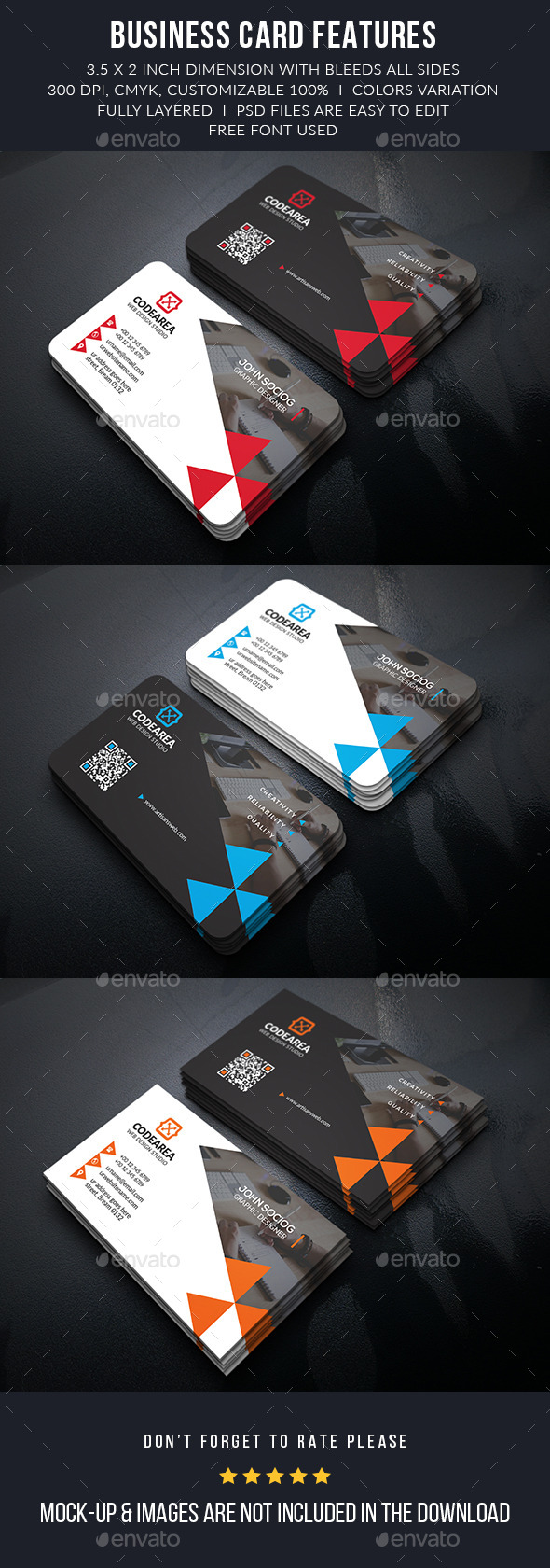 Creative Services Business Card - Business Cards Print Templates