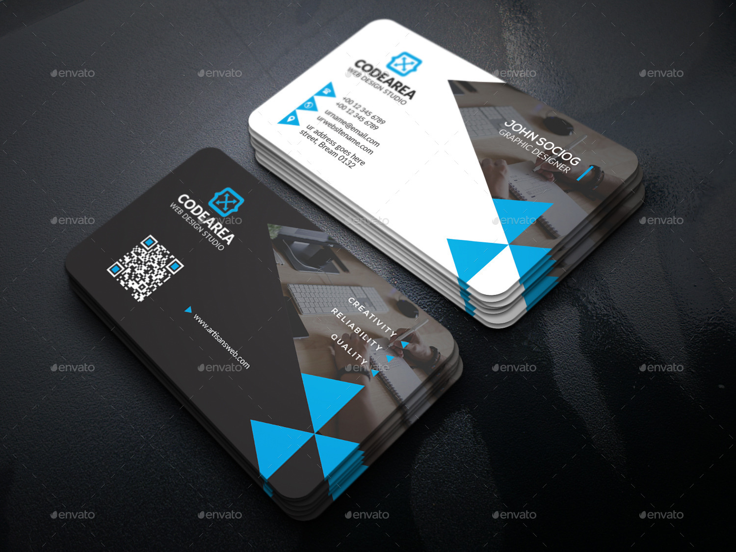 Creative Services Business Card by UXcred | GraphicRiver