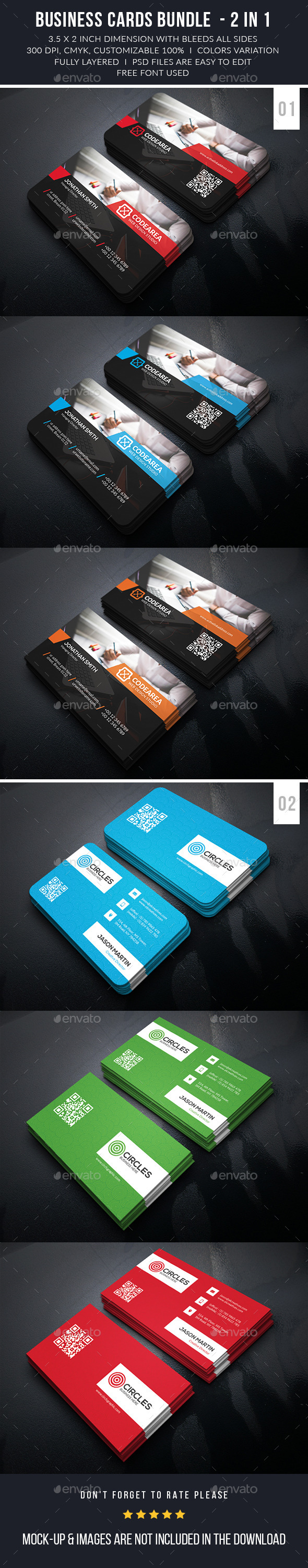 Creative Corporate Business Card Bundle - Business Cards Print Templates