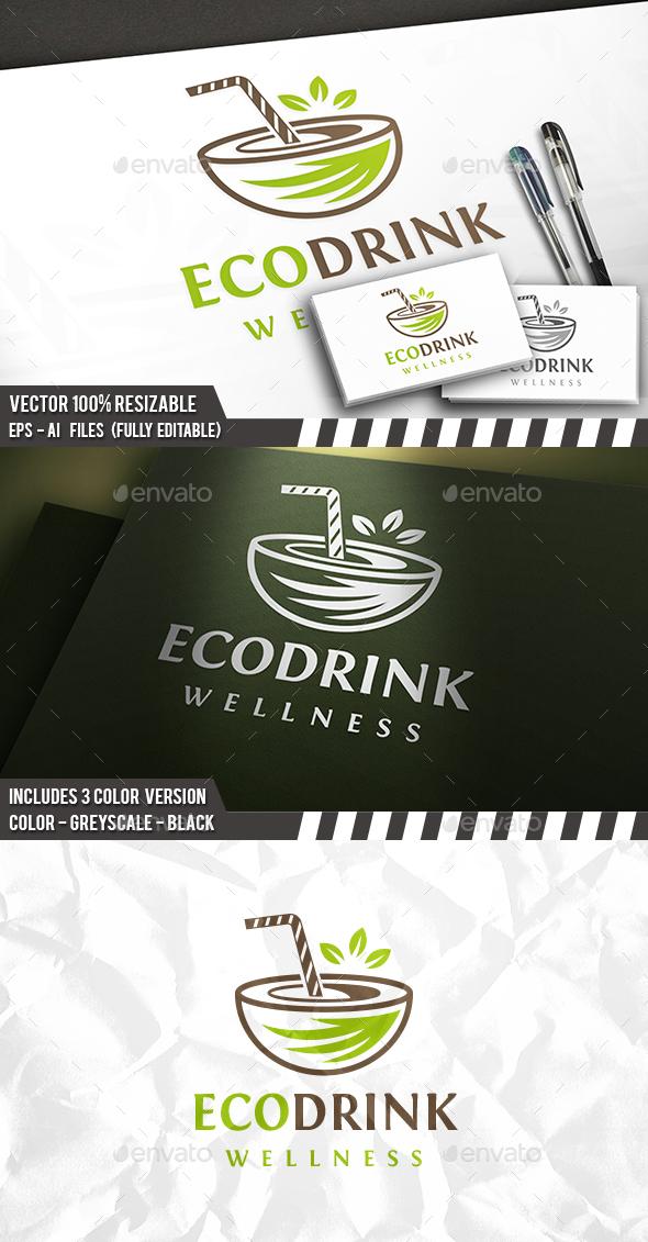 Eco Drink Logo - Food Logo Templates