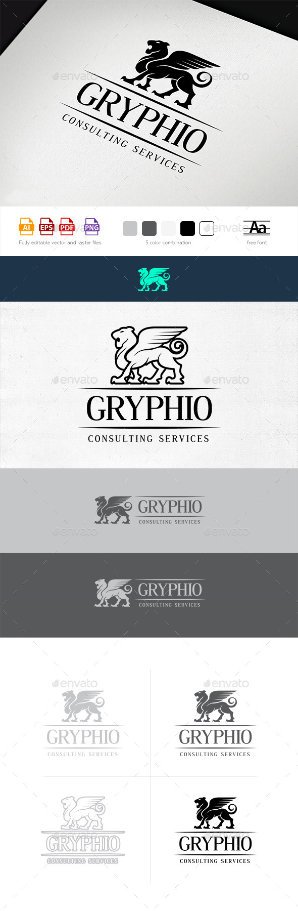 Gryphio Logo Template - Animals Logo Templates