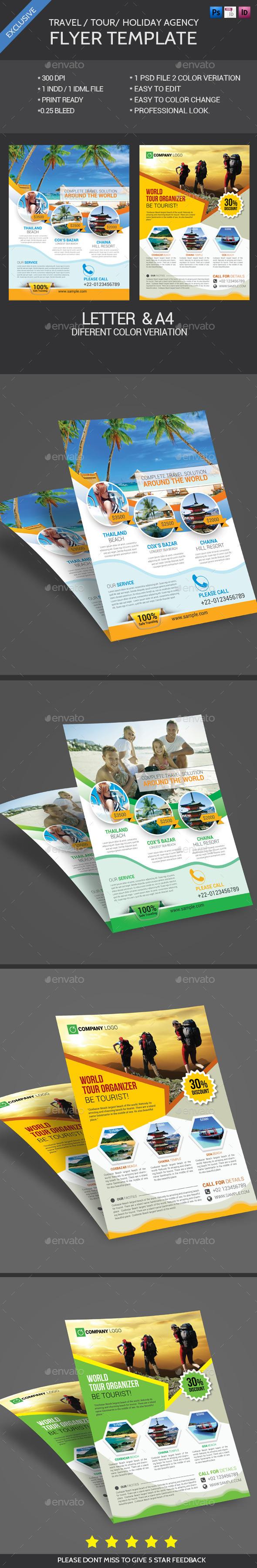 Travel Tour Flyer Bundle - Flyers Print Templates