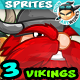 Vikings 2D Game Character Sprites 112 - GraphicRiver Item for Sale