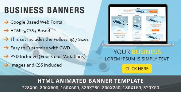 Viavi Business HTML5 Banners - CodeCanyon Item for Sale
