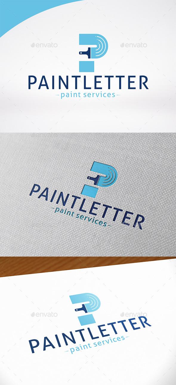 Paint Letter P Logo Template - Letters Logo Templates