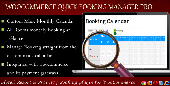 WooCommerce Quick Resort & Hotel Booking Calendar - CodeCanyon Item for Sale