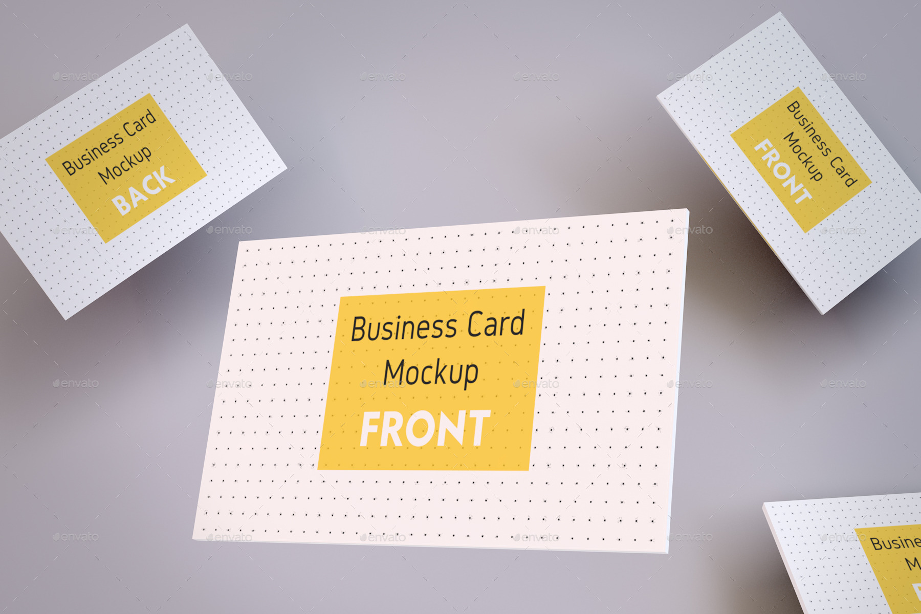 Realistic Business Card and A4 paper Mockup Pack by Peninsulastudioz