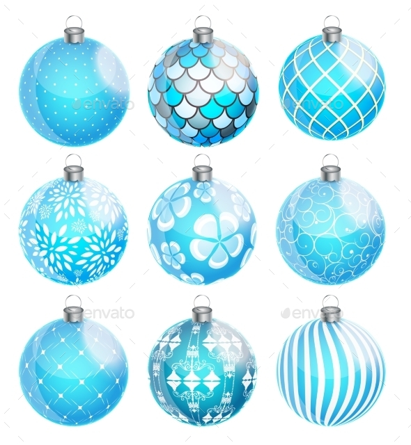 New Year and Christmas Balls Set - Man-made Objects Objects